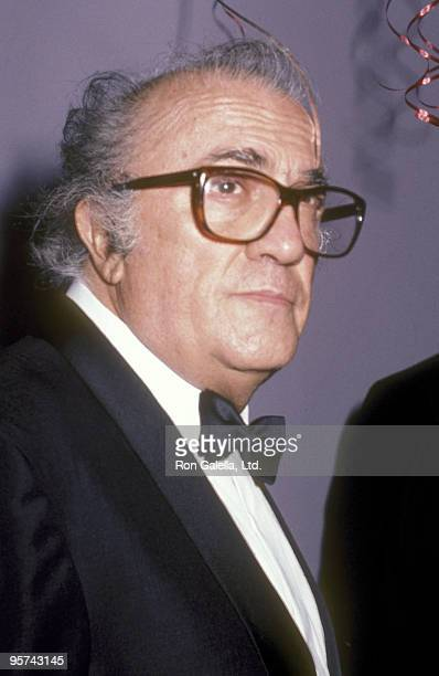 Writer/Director Federico Fellini attends The Film Society of Lincoln Center's Tribute to Federico Fellini After Party on June 10 1985 at Area...
