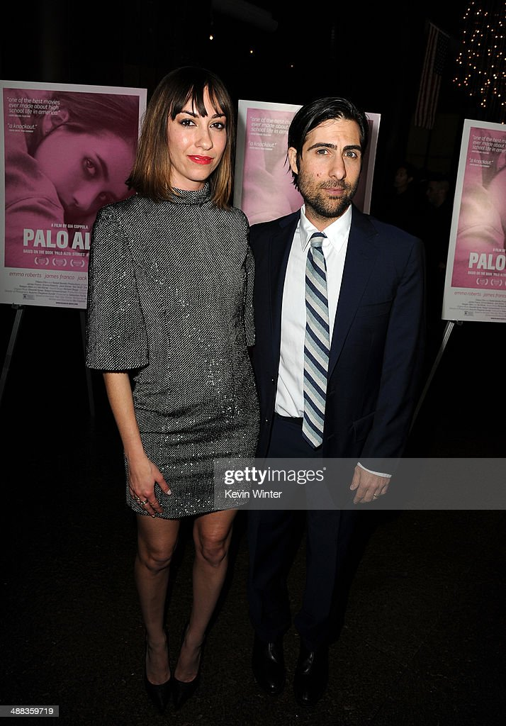 Writer/director <a gi-track='captionPersonalityLinkClicked' href=/galleries/search?phrase=Gia+Coppola&family=editorial&specificpeople=3099216 ng-click='$event.stopPropagation()'>Gia Coppola</a> (L) and actor <a gi-track='captionPersonalityLinkClicked' href=/galleries/search?phrase=Jason+Schwartzman&family=editorial&specificpeople=216351 ng-click='$event.stopPropagation()'>Jason Schwartzman</a> attend the premiere of Tribeca Film's 'Palo Alto' at the Directors Guild of America on May 5, 2014 in Los Angeles, California.