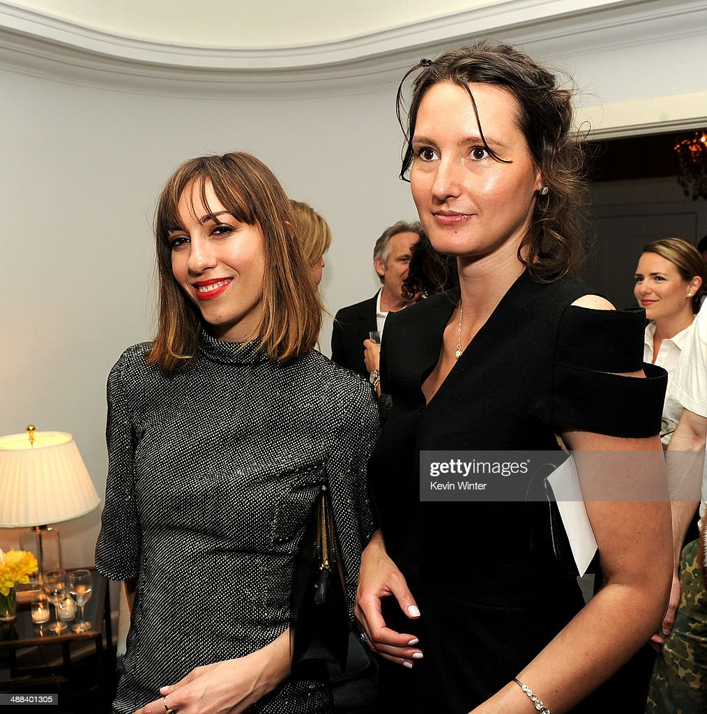 Writer/director <a gi-track='captionPersonalityLinkClicked' href=/galleries/search?phrase=Gia+Coppola&family=editorial&specificpeople=3099216 ng-click='$event.stopPropagation()'>Gia Coppola</a> (L) and producer Adriana Rotaru pose at the after party for the premiere of Tribeca Film's 'Palo Alto' at the Chateau Marmont on May 5, 2014 in West Hollywood, California.