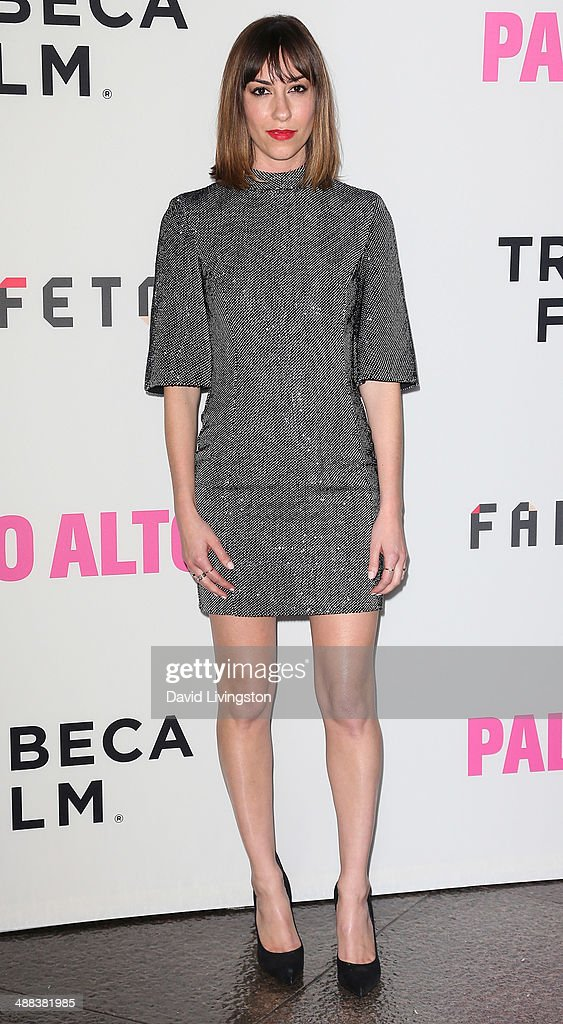 Writer/director <a gi-track='captionPersonalityLinkClicked' href=/galleries/search?phrase=Gia+Coppola&family=editorial&specificpeople=3099216 ng-click='$event.stopPropagation()'>Gia Coppola</a> attends the premiere of Tribeca Film's 'Palo Alto' at the Directors Guild of America on May 5, 2014 in Los Angeles, California.