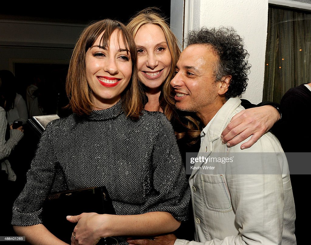 Writer/director Gia Coppola, her mother Jacqui Getty and stylist Jamal Hammadi pose at the after party for the premiere of Tribeca Film's 'Palo Alto' at the Chateau Marmont on May 5, 2014 in West Hollywood, California.