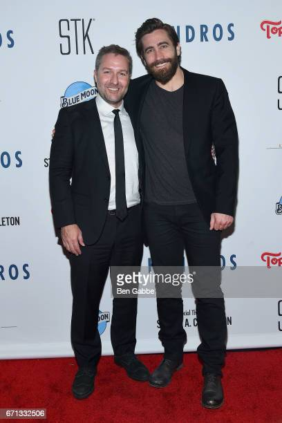Writer/director Greg Campbell and executive producer Jake Gyllenhaal attend the 'Hondros' Premiere After Party during Tribeca Film Festival at STK...