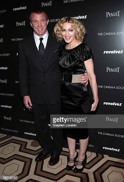 Writer/director Guy Ritchie and musician Madonna attend a screening of 'Revolver' hosted by the Cinema Society and Piaget at the Tribeca Grand...