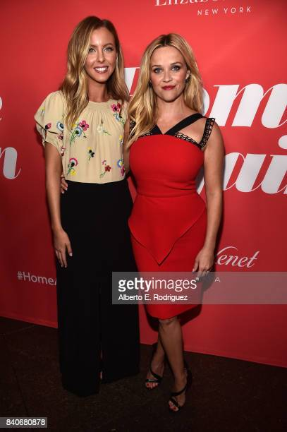 Writer/director Hallie MeyersShyer and actor Reese Witherspoon attend the premiere of Open Road Films' 'Home Again' at the Directors Guild of America...