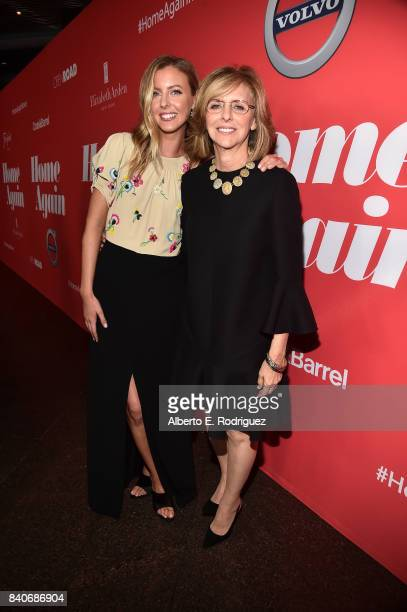 Writer/director Hallie MeyersShyer and producer Nancy Meyers attend the premiere of Open Road Films' 'Home Again' at the Directors Guild of America...