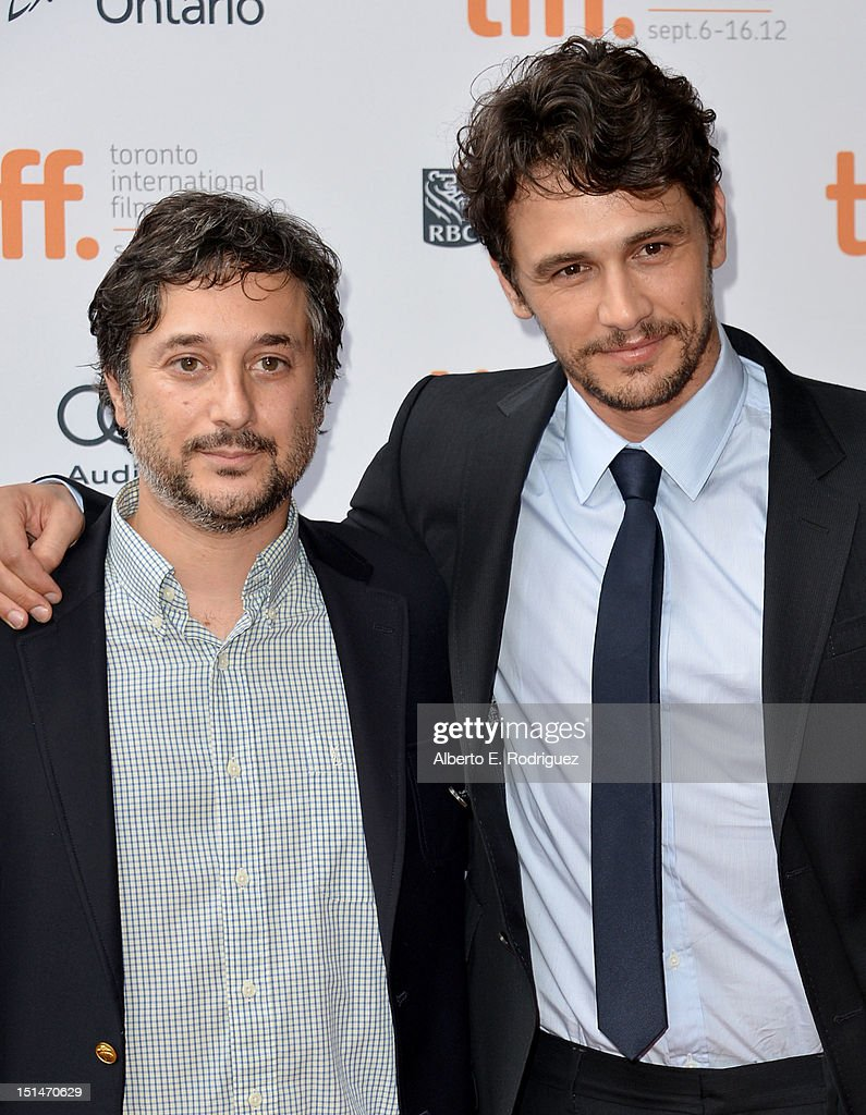 Writer/director Harmony Korine (L) and actor James Franco (R) attend the'Spring Breakers' premiere during the 2012 Toronto International Film Festival at Ryerson Theatre on September 7, 2012 in Toronto, Canada.