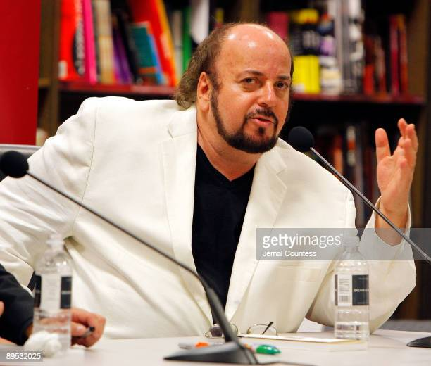 Writer/director James Toback speaks at a book discussion for his book 'Jim The Author's SelfCentered Memoir On The Great Jim Brown' at Borders Books...