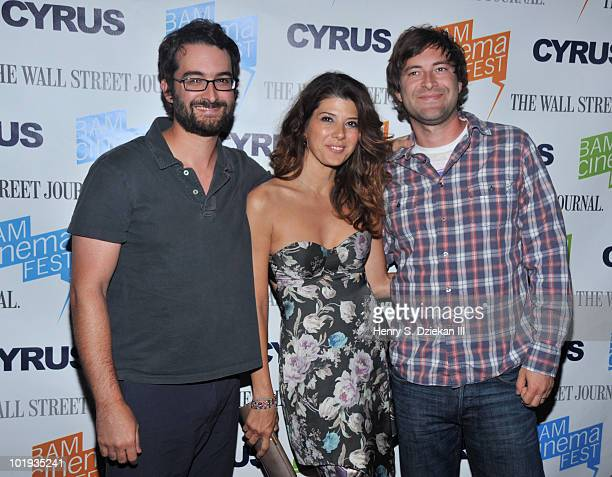 Writer/director Jay Duplass actress Marisa Tomei and writer/director Mark Duplass attend the 2010 BAMcinemaFEST Opening Night premiere of 'Cyrus' at...