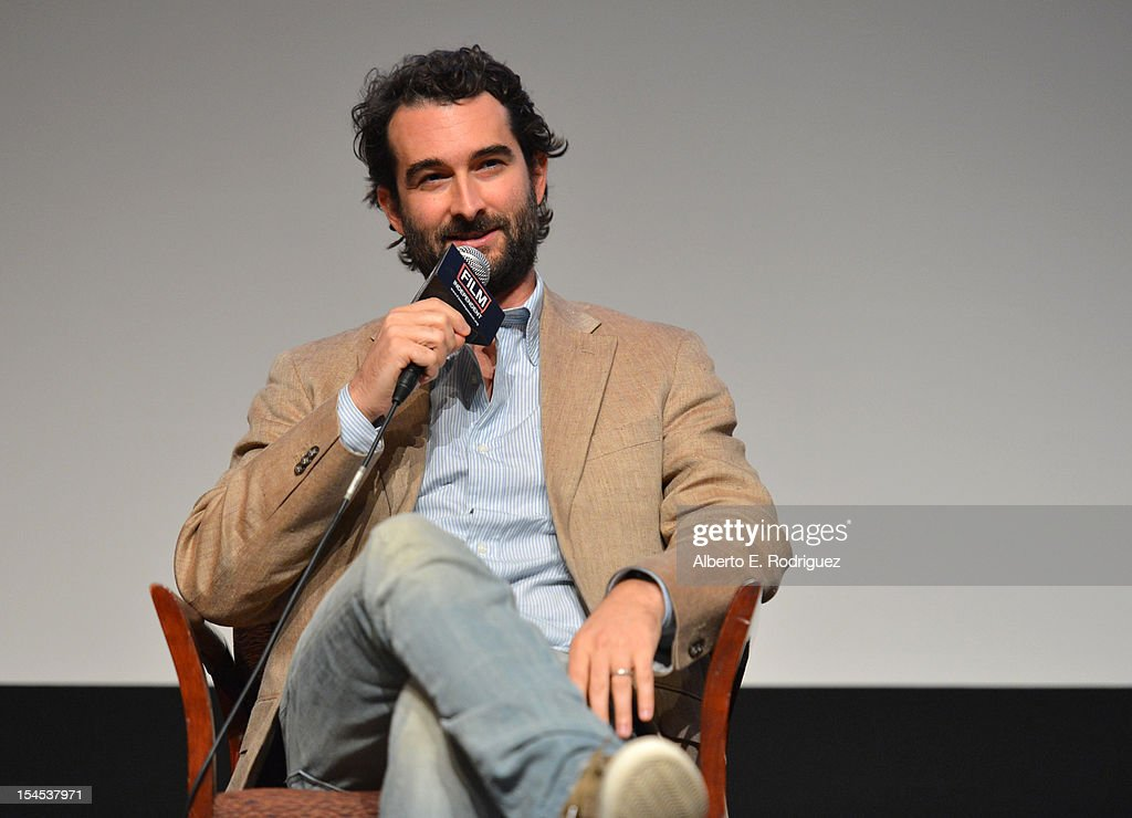 Writer/Director Jay Duplass speaks onstage during the Film Independent Film Forum at Directors Guild of America on October 21, 2012 in Los Angeles, California.