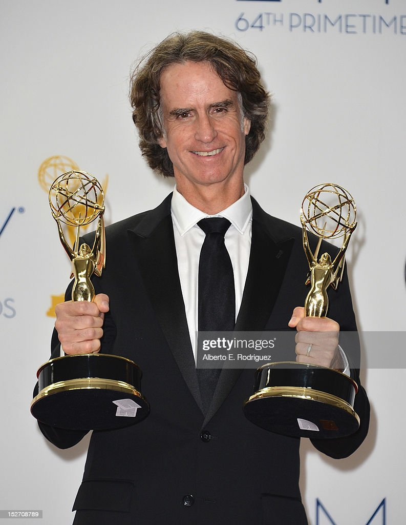 Writer/director Jay Roach poses in the 64th Annual Emmy Awards press room at Nokia Theatre L.A. Live on September 23, 2012 in Los Angeles, California.
