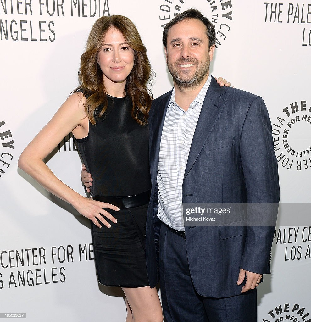 Writer/director Jeff Schaffer (R) and writer Jackie Schaffer arrive at The Paley Center for Media's 2013 benefit gala honoring FX Networks with the Paley Prize for Innovation & Excellence at Fox Studio Lot on October 16, 2013 in Los Angeles, California.