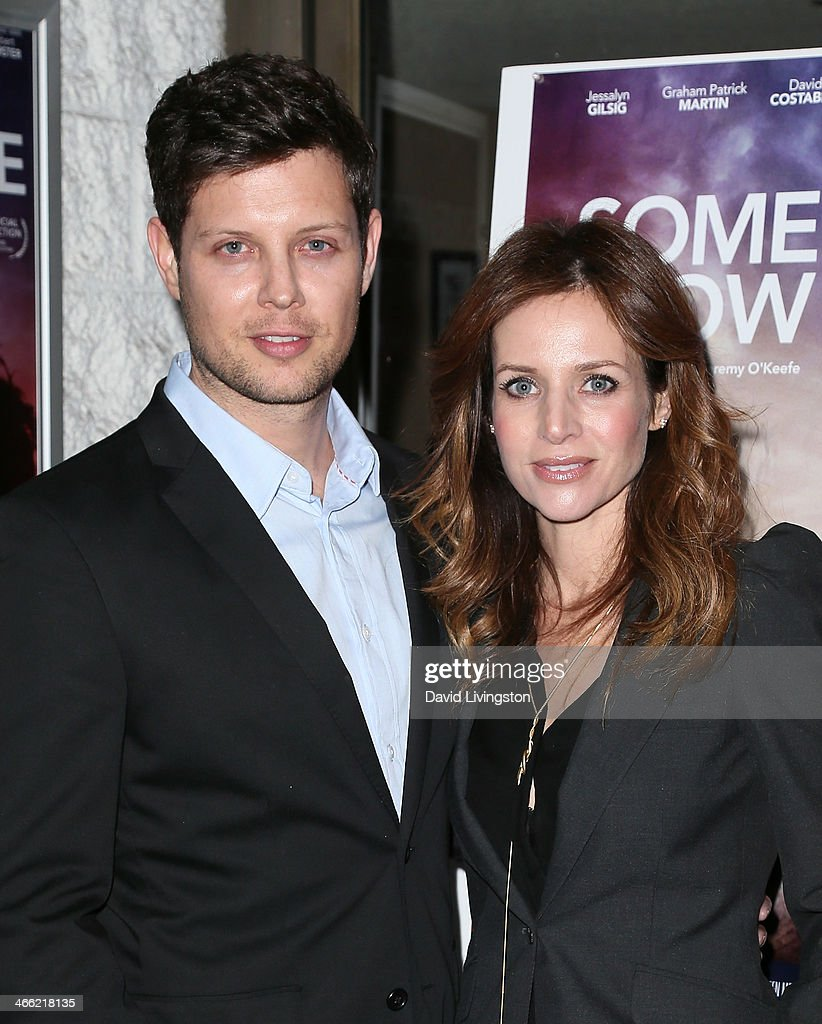 Writer/director Jeremy O'Keefe (L) and actress Jessalyn Gilsig attend a screening of Logolite Entertainment & Screen Media Films' 'Somewhere Slow' at Arena Cinema Hollywood on January 31, 2014 in Hollywood, California.