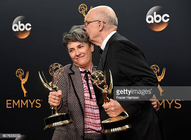 Writerdirector Jill Soloway winner of Best Directing for a Comedy Series for 'Transparent' and actor Jeffrey Tambor winner of Best Actor in a Comedy...