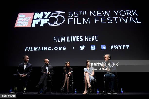 Writer/director Joachim Triercowriter Eskil VogtKaya WilkinsEili Harboe and Kent Jones attend the 55th New York Film Festival 'Thelma' at Alice Tully...