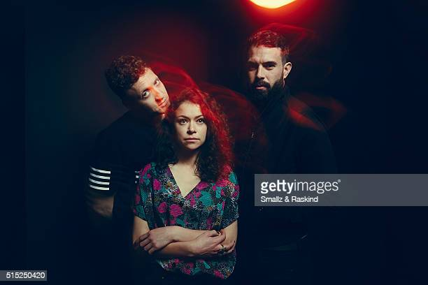 Writer/director Joey Klein actors Tatiana Maslany and Tom Cullen of 'The Other Half' are photographed in the Getty Images SXSW Portrait Studio...