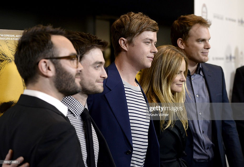 Writer/director John Krokidas, actors Daniel Radcliffe, Dane DeHaan, Jennifer Jason Leigh and Michael C. Hall attend the premiere of Sony Pictures Classics' 'Kill Your Darlings' at Writers Guild Theater on October 3, 2013 in Beverly Hills, California.