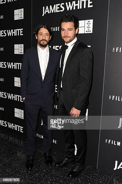Writer/Director Josh Mond and Actor Christopher Abbott attend the 'James White' New York Premiere at Museum of Modern Art on November 10 2015 in New...