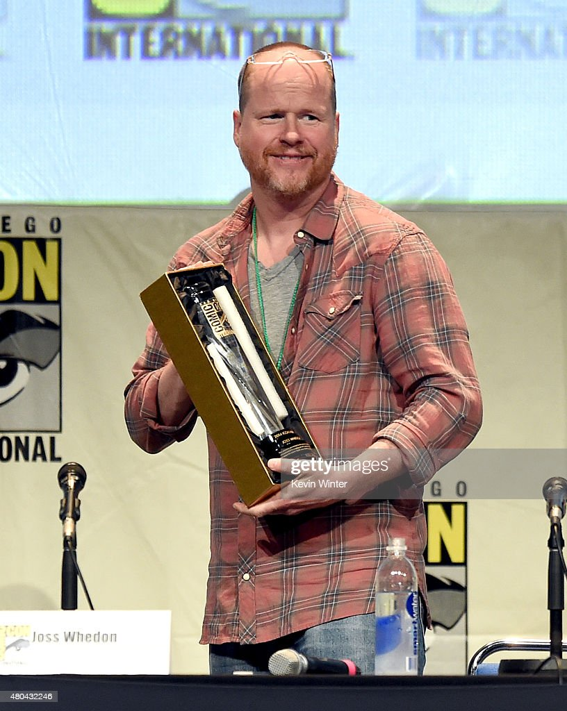 Writerdirector Joss Whedon accepts the Icon Award speaks onstage at Dark Horse An Interview with Joss Whedon during ComicCon International 2015 at...