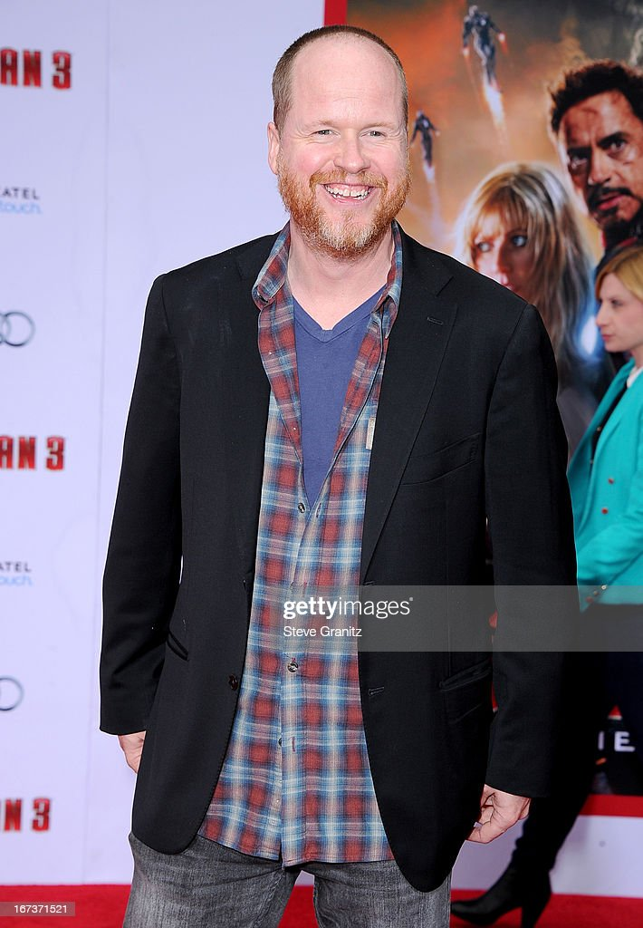 Writer/director Joss Whedon arrives at the 'Iron Man 3' Los Angeles premiere at the El Capitan Theatre on April 24 2013 in Hollywood California