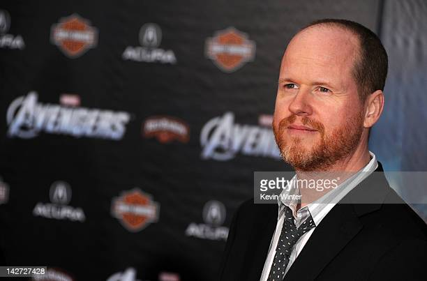 Writer/director Joss Whedon arrives at the premiere of Marvel Studios' 'The Avengers' at the El Capitan Theatre on April 11 2012 in Hollywood...