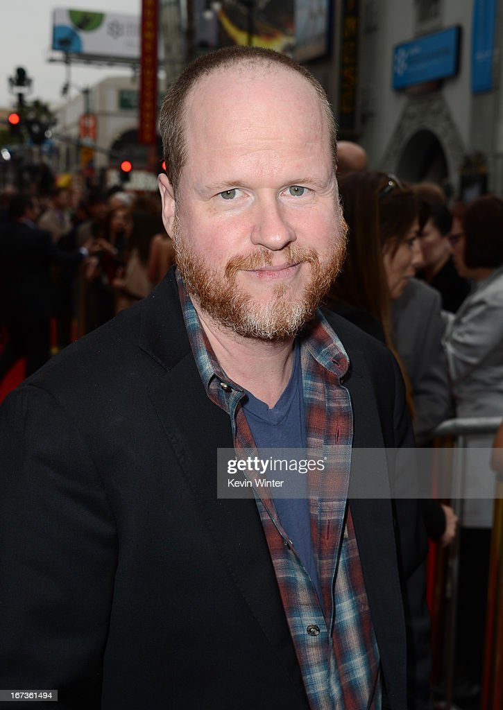 Writer/director Joss Whedon arrives at the premiere of Walt Disney Pictures' 'Iron Man 3' at the El Capitan Theatre on April 24 2013 in Hollywood...