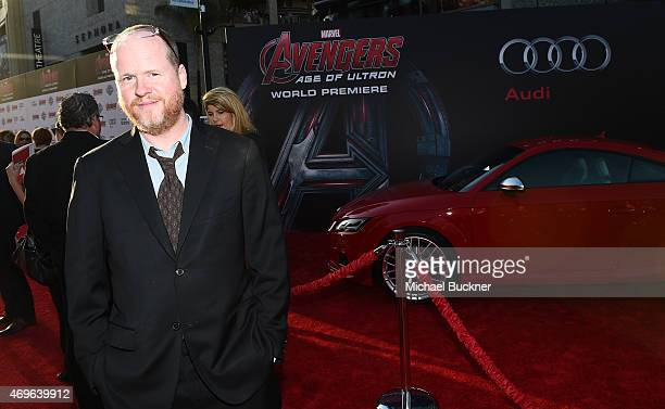 Writer/Director Joss Whedon attends Audi Arrivals at The World Premiere Of 'Avengers Age Of Ultron' at Dolby Theatre on April 13 2015 in Hollywood...