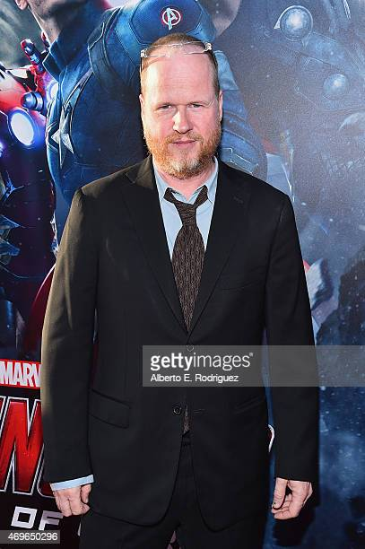 Writer/director Joss Whedon attends the world premiere of Marvel's 'Avengers Age Of Ultron' at the Dolby Theatre on April 13 2015 in Hollywood...