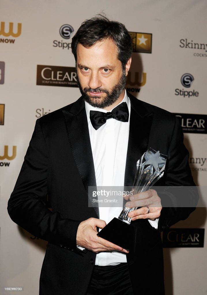 Writer/director Judd Apatow poses in the press room during the 18th Annual Critics' Choice Movie Awards at The Barker Hanger on January 10, 2013 in Santa Monica, California.