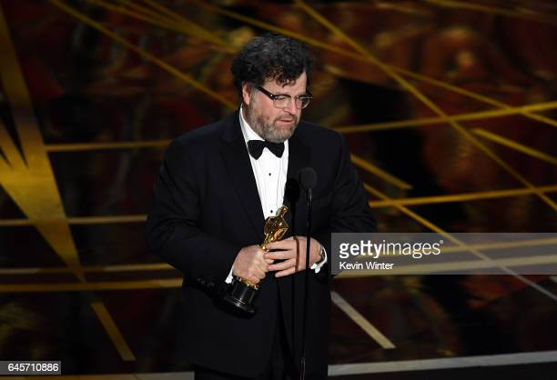 Writer/director Kenneth Lonergan accepts Best Original Screenplay for 'Manchester by the Sea' onstage during the 89th Annual Academy Awards at...