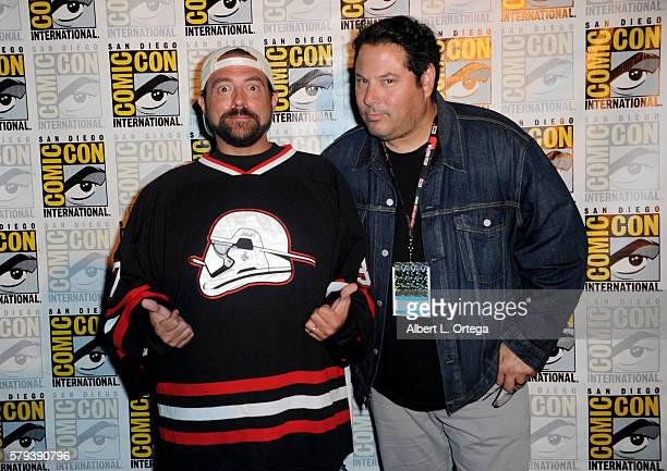Writer/director Kevin Smith and actor Greg Grunberg attend the Kevin Smith Panel during ComicCon International 2016 at San Diego Convention Center on...