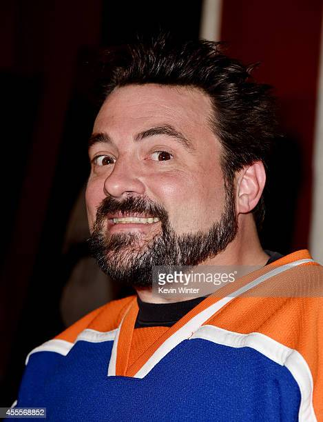 Writer/director Kevin Smith arrives at the premiere of A24's 'Tusk' at the Vista Theatre on September 16 2014 in Los Angeles California