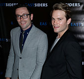 Writer/director Kit Williamson and actor Van Hansis arrives at the premiere of Go Team Entertainment's 'EastSiders' season 2 at The Downtown...