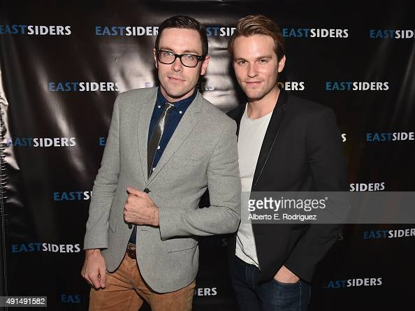 Writer/director Kit Williamson and actor Van Hansis attends the premiere of Go Team Entertainment's 'EastSiders' season 2 at The Downtown Independent...