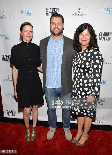 Writer/Director Lisa Robinson actor Mike Repsch and writer/director Annie J Howell attend the premiere Of Breaking Glass Pictures' 'Claire In Motion'...