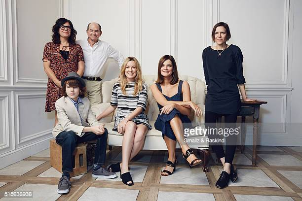 Writer/director Lisa Robinson actors Zev Haworth Ken Strunk Anna Margaret Hollyman Betsy Brandt and writer/director Annie J Howell of 'Claire In...