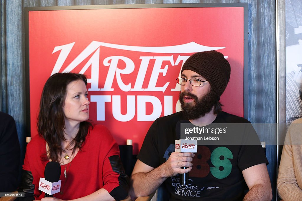 Writer/director Liz W. Garcia (L) and actor Martin Starr attend Day 3 of the Variety Studio At 2013 Sundance Film Festival on January 21, 2013 in Park City, Utah.