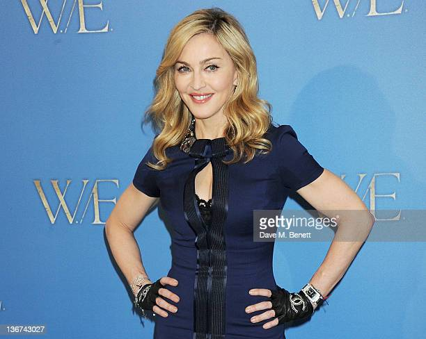 Writer/Director Madonna attends a photocall to promote the new film 'WE' at the London Studios on January 11 2012 in London United Kingdom