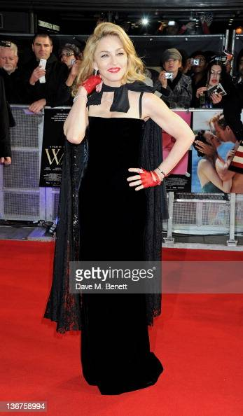 Writer/Director Madonna attends the UK premiere of 'WE' at Kensington Odeon on January 11 2012 in London England