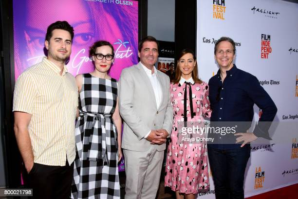 Writer/director Matt Spicer LA Film Festvial Director Jennifer Cochis Film Independent President Josh Welsh actor Aubrey Plaza and Neon's Tom Quinn...
