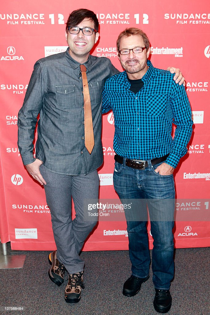 Writer/director Michael Mohan and Sundance Film Festival Senior Programmer David Courier attend the 'Save The Date' premiere during the 2012 Sundance Film Festival held at Library Center Theater on January 22, 2012 in Park City, Utah.