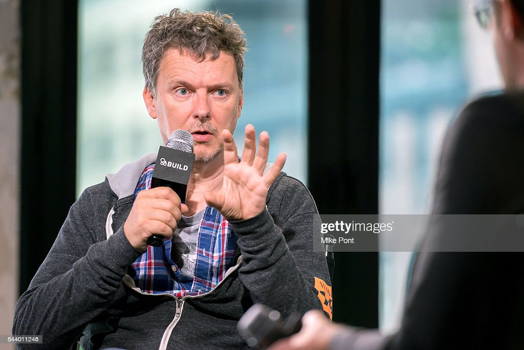 Writer/director <a gi-track='captionPersonalityLinkClicked' href=/galleries/search?phrase=Michel+Gondry&family=editorial&specificpeople=216337 ng-click='$event.stopPropagation()'>Michel Gondry</a> attends the AOL Build Series to discuss his new film 'Microbe And Gasoline' at AOL Studios In New York on June 30, 2016 in New York City.