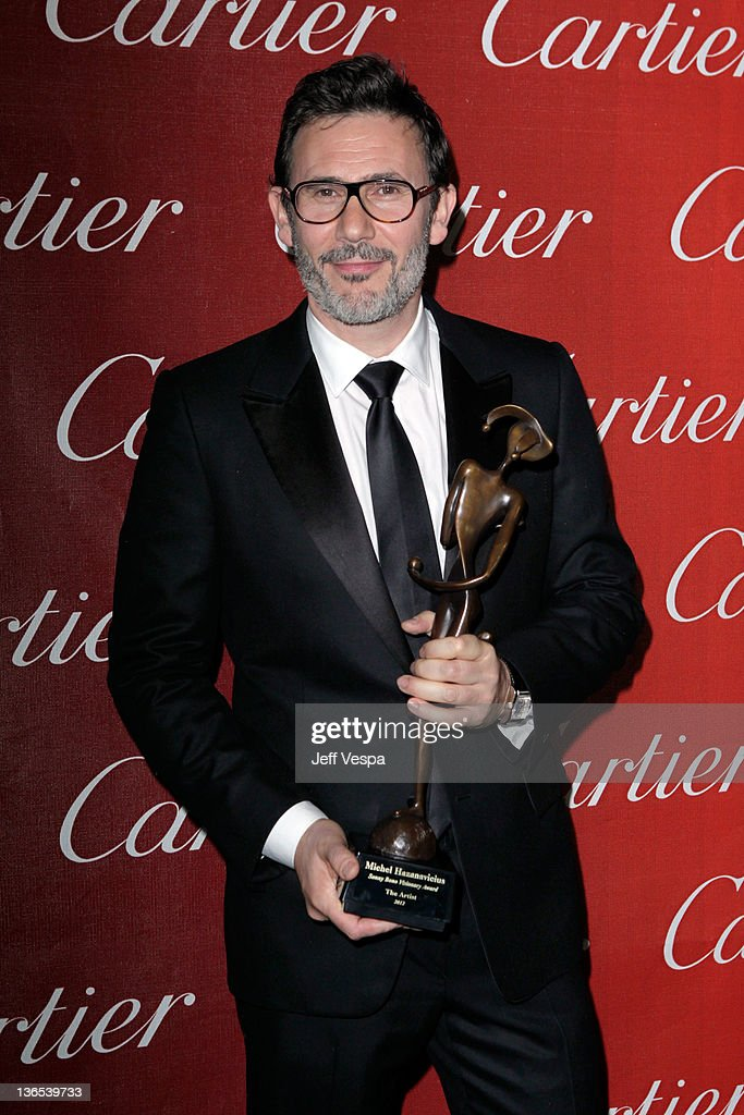 Writer/Director Michel Hazanavicius, winner of the Sonny Bono Visionary Award, attends The 23rd Annual Palm Springs International Film Festival Awards Gala at the Palm Springs Convention Center on January 7, 2012 in Palm Springs, California.