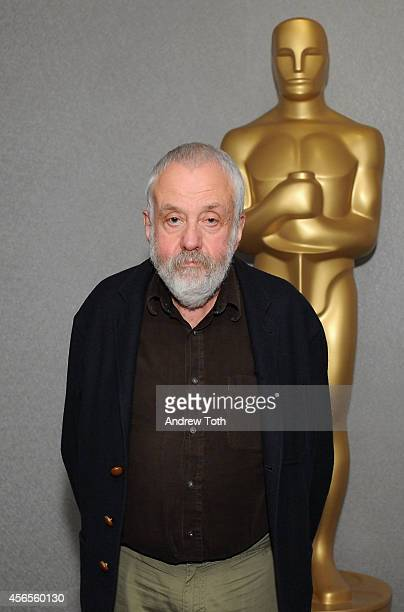 Writer/director Mike Leigh attends the Academy Members screening of 'Mr Turner' at the Academy Theater at Lighthouse International on October 2 2014...