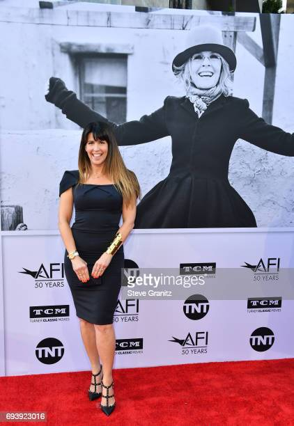WriterDirector Patty Jenkins arrives at the AFI Life Achievement Award Gala Tribute to Diane Keaton at Dolby Theatre on June 8 2017 in Hollywood...