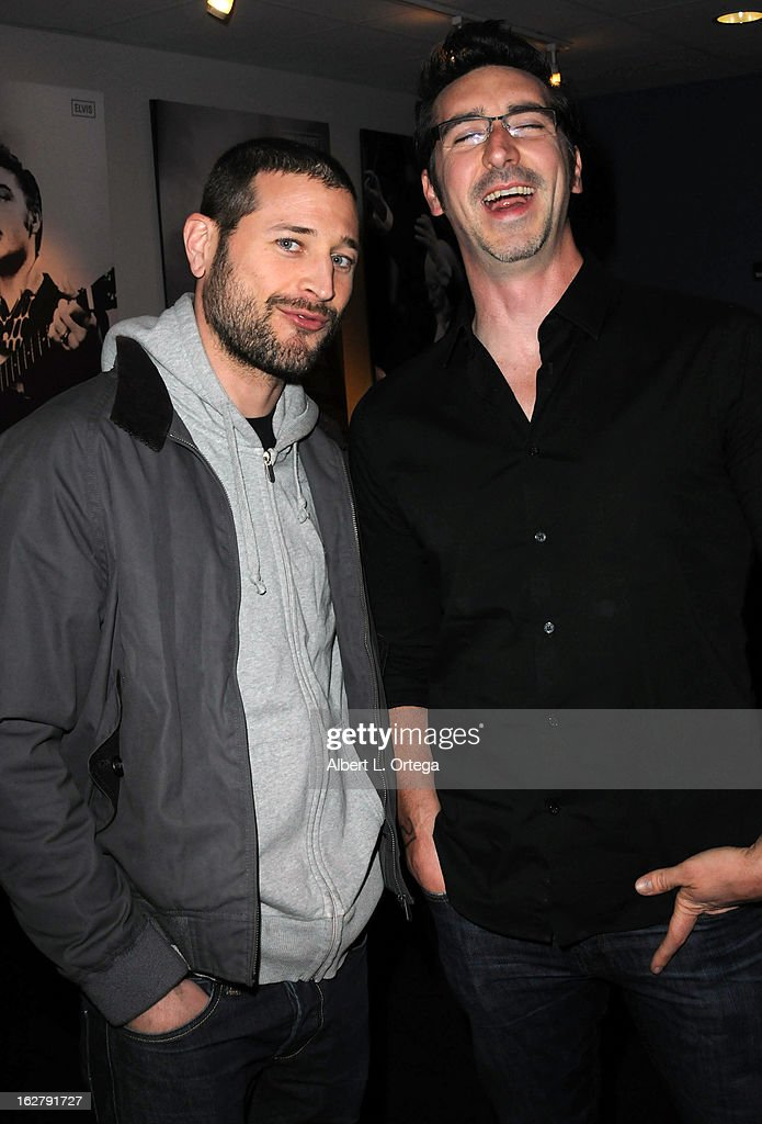 Writer/director Paul Solet and writer Ryan Turek attend the Screening and Q&A for 'ColdWater' at The Los Angeles Film School on February 26, 2013 in Hollywood, California.