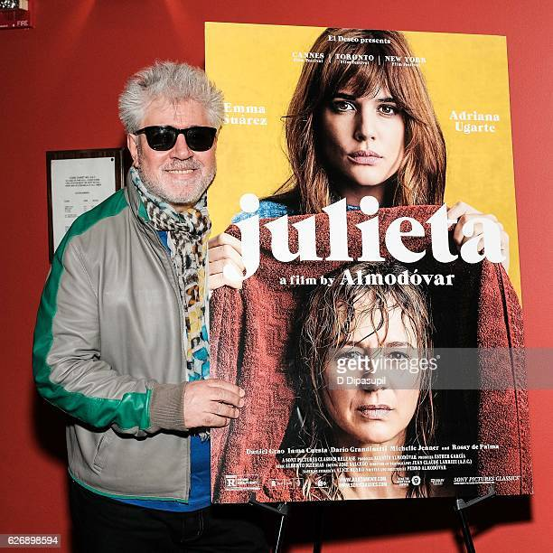 Writer/director Pedro Almodovar attends a screening of Sony Pictures Classics' 'Julieta' hosted by The Cinema Society with Avion and GQ at Landmark...