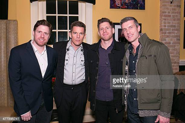 Writer/director Peter Spierig actor Ethan Hawke writer/director Michael Spierig and Senior VP of Acquisitions for Sony Pictures Worldwide...