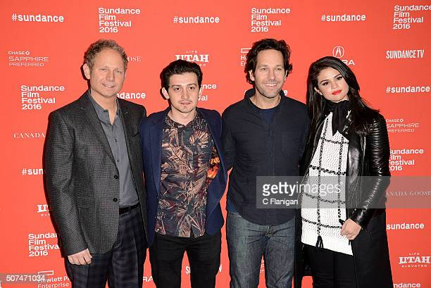 Writer/Director Rob Burnett actor Craig Roberts actor Paul Rudd and singer Selena Gomez attend 'The Fundamentals Of Caring' Premiere during the 2016...
