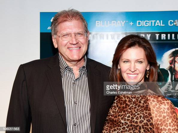 Writer/director Robert Zemeckis and guest attend the 'Back To The Future' 25th anniversary Trilogy BluRay release celebration at Gustavino's on...