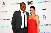Writer/Director Ryan Coogler and actress Melonie Diaz attend the 2013 Reel Works Gala Benefit at The Edison Ballroom on November 6 2013 in New York...